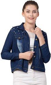 preserve Dark Blue Pearls Denim Jacket