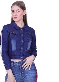 preserve Dark Blue Ribbon Denim Jacket