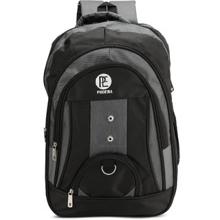 Proera Grey 30 Ltrs Waterproof Polyester School/College & Office Bag (Unisex)