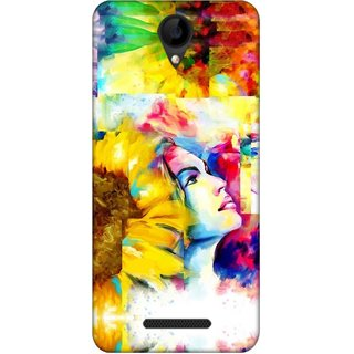 Digimate Latest Design High Quality Printed Designer Soft TPU Back Case Cover For iVoomi1