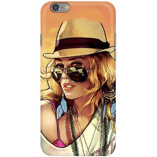 Digimate Hard Matte Printed Designer Cover Case For Iphone 6 Plus - 0182