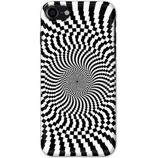 Digimate Hard Matte Printed Designer Cover Case For Iphone 8 - 0345
