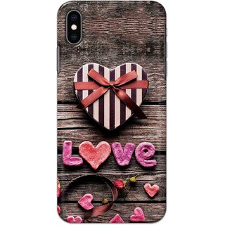 Digimate Hard Matte Printed Designer Cover Case For Iphone XS Max - 0383