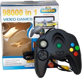 98000 in 1 Video Game Pad Built in TV Game Single Player Direct AV Inputs USB No Batteries Required