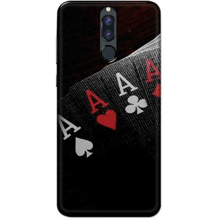 Digimate Hard Matte Printed Designer Cover Case For Honor 9i