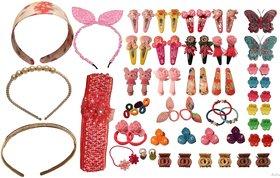 Avaco Hair Accessories Set-69 Pcs Hair Clips, Hair Ties,Tic Tac Hair Clips, Elastics hair bands, hair belts, multicolore