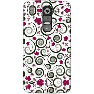 Digimate Hard Matte Printed Designer Cover Case For LG G2