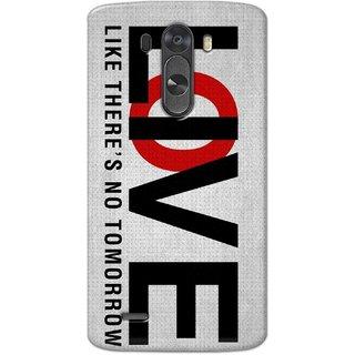 Digimate Hard Matte Printed Designer Cover Case For LG G3
