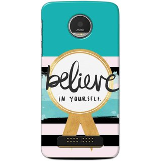 Digimate Hard Matte Printed Designer Cover Case For Motorola Moto Z Play