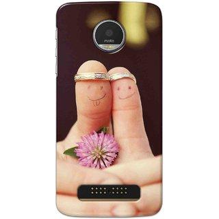 Digimate Hard Matte Printed Designer Cover Case For Motorola Moto Z Play