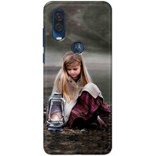 Digimate Hard Matte Printed Designer Cover Case For Motorola One Vision