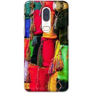 Digimate Hard Matte Printed Designer Cover Case For One Plus 6 - 0126