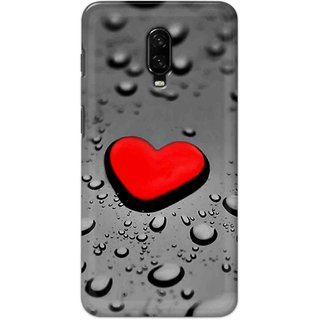 Digimate Hard Matte Printed Designer Cover Case For One Plus 6t - 0338