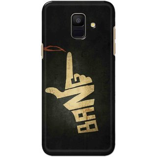 Digimate Hard Matte Printed Designer Cover Case For Samsung Galaxy A6