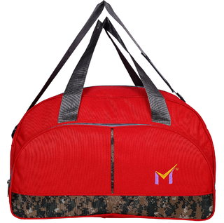 SMS BAG HOUSE Heavy Dutty Polyester Travel Luggage  Duffel Bag - 50 Liters Red