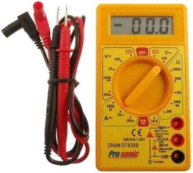Buylink Digital Multimeter LCD AC DC Measuring Voltage Current Digital Multimeter (Yellow) MLT-MITR