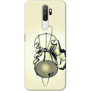 Digimate Hard Matte Printed Designer Cover Case For Oppo A9 (2020) - 0504