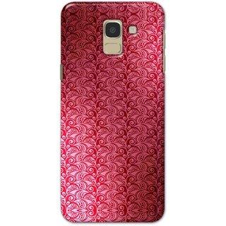 Digimate Hard Matte Printed Designer Cover Case For Samsung Galaxy J6 2018