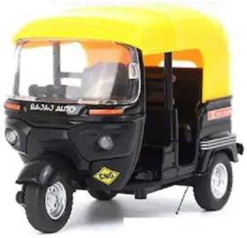 Metal CNG Auto Rickshaw Toy Model (Multiolor)