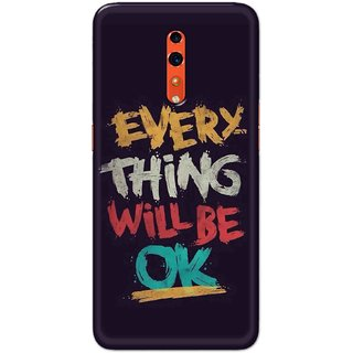 Digimate Hard Matte Printed Designer Cover Case For OPPO Reno Z - 0556