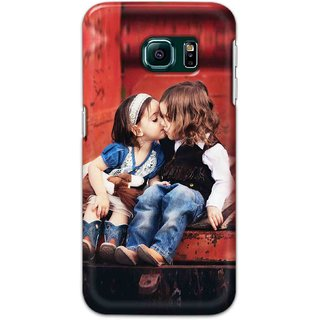 Digimate Hard Matte Printed Designer Cover Case For Samsung Galaxy S6 Edge