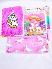 Gifthouse Unicorn small diary+eraser+pen+pouch
