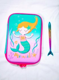 Gift-House Mermaid Pouch with Mermaid Pen Gift for Kids Girls - Assorted Colors