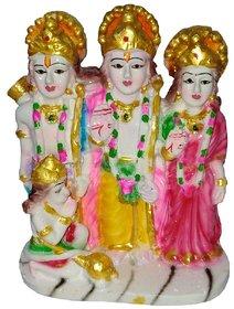 Ram Darbar, Hanuman Sita Laxman Statue Poly Resin Unbreakable Idol Showpiece Sculpture Murti for Home Decor (4)