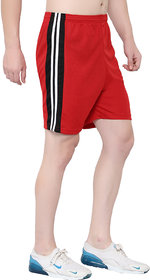 OORA Men & Women Non-Cotton Sports Gym Shorts (Pack of 1, Red , Free Size- 28 to 34 Inch)