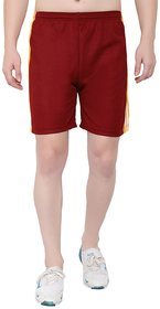 OORA Men's Gym Sports Short ( Mehroon , Free Size- 28 to 34 Inch)