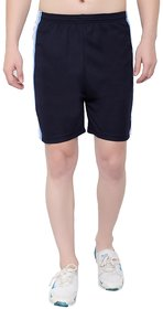 OORA Men's Gym Sports Short ( Navy , Free Size- 28 to 34 Inch)
