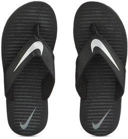 Nike Men Black Silver Flip Flops