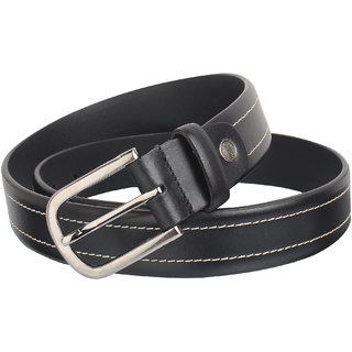 Men's Pure-Leather Belt Casual  Formal (Size 28 Black ) (Synthetic leather/Rexine)