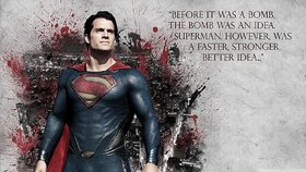 5 ACE SUPER MAN QUOTES  WALL POSTER OF 300 GSM (12X18) WITHOUT FRAME Sticker Paper Poster, 12x18 Inch