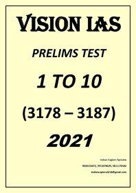 Vision IAS Prelims Test English 1 to 10 for 2021
