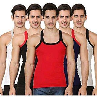 Assorted Color Men's Gym Vest (Pack of 5)
