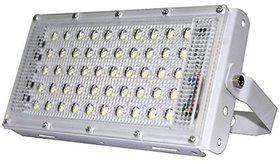 LED 50W Ultra Thin Slim IP65 LED Flood Outdoor Cool Day Light White Waterproof (50 watt)(White)( code002)