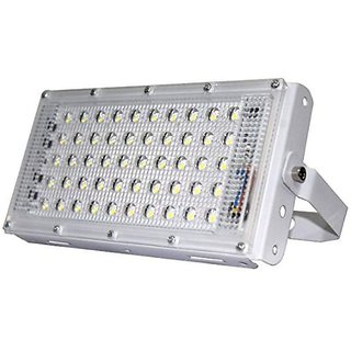 LED 50W Ultra Thin Slim IP65 LED Flood Outdoor Cool Day Light White Waterproof (50 watt)(White)( code002)