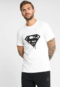 Printex White Printed Men's Half Sleeve Round Neck T-Shirt