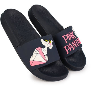 Richale Pink Panther Blue Slippers For Women