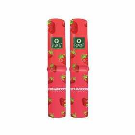 Organic Harvest Lip Balm Strawberry With Mango Butter for Dry and Chapped Lips, 3gm (Pack of 2)