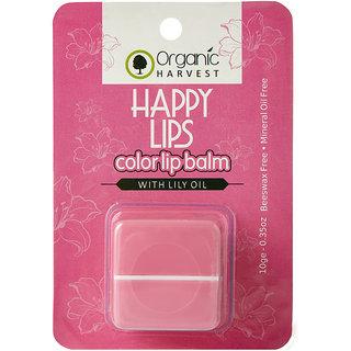 Organic Harvest Pink Lip Balm(Lily), 10gm