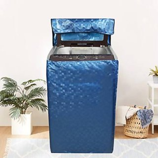 Fabfurn Waterproof Top Load Washing Machine Cover (Size  Suitable for 6 kg to 7 kg, Color  Blue)
