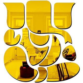 Bikri Kendra - Ganesha GOLDEN  - 3D Acrylic Decorative Mirror