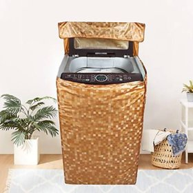 Fabfurn Waterproof Top Load Washing Machine Cover (Size  Suitable for 6 kg to 7 kg, Color  Brown)