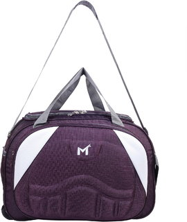 SMS BAG HOUSE (Expandable) Unisex Lightweight 55 litres Travel Duffel Bag with Two Wheels - Maroon