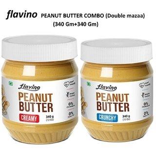 FLAVINO PEANUT BUTTER COMBO (CREAMY 340 Gm+CRUNCHY 340 Gm)