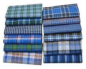 100 Pure Cotton Lungi Lungi's Men Dhoti/Vesti Temal Multicolour, Free Size (1 best Piece Form this)
