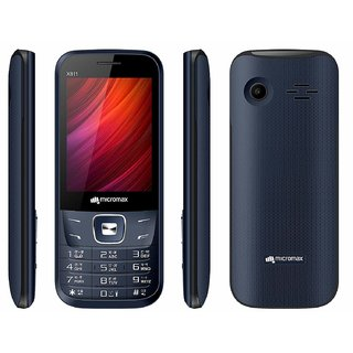 MICROMAX X811 DUAL SIM MOBILE WITH 2.8 DISPLAY/1000 mAh BATTERY/CAMERA/TORCH/FM AND AUTO CALL RECORDER Feature Phones
