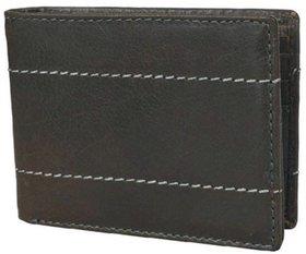 DAANKIE Men Green Original Leather RFID Wallet 10 Card Slot 2 Note Compartment
